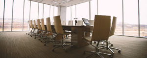 Et tomt mødelokale