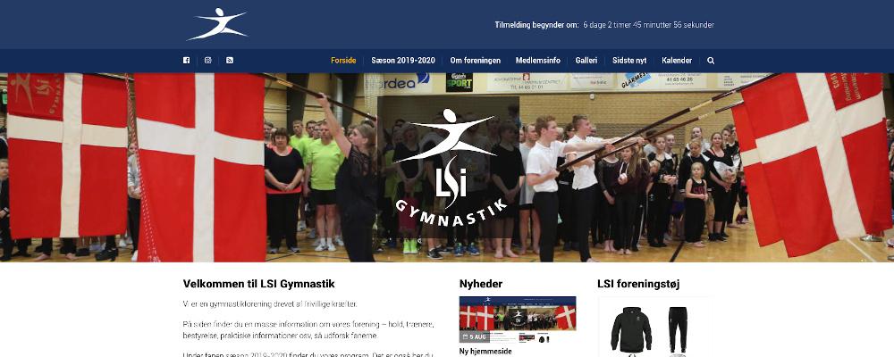 LSI Gymnastik hjemmeside