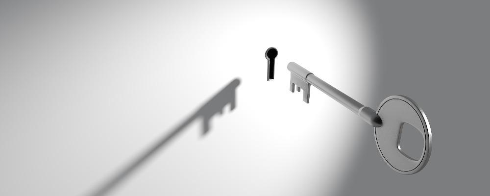 En nøgle og et nøglehul